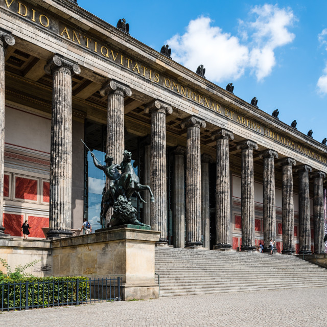 """Altes Museum in Berlin a sunny day of summer"" stock image"