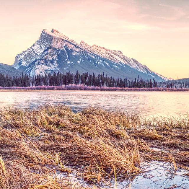 """Sunset in Banff"" stock image"