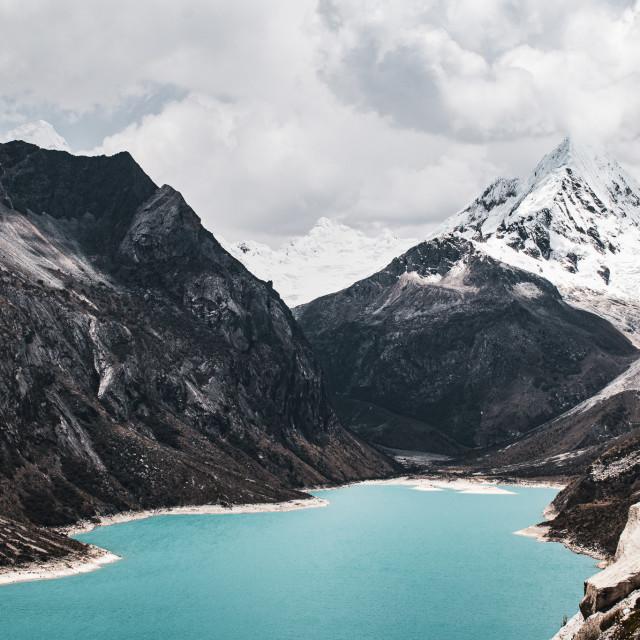 """Laguna Paron, Huaraz, Peru"" stock image"