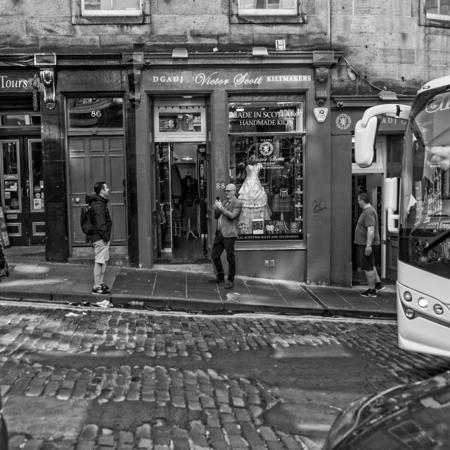 """Old Town, Royal Mile"" stock image"