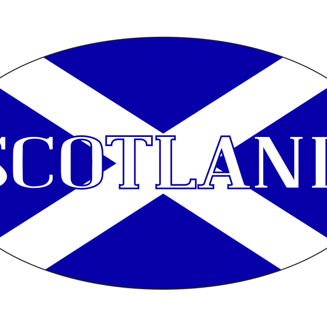 """""""Scotland Isolated Rugby Ball"""" stock image"""