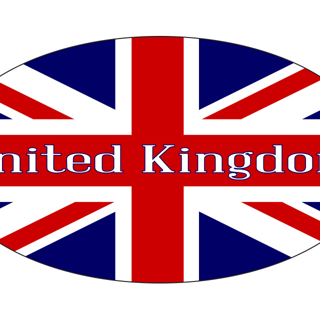 """""""United Kingdom Isolated Rugby Ball"""" stock image"""