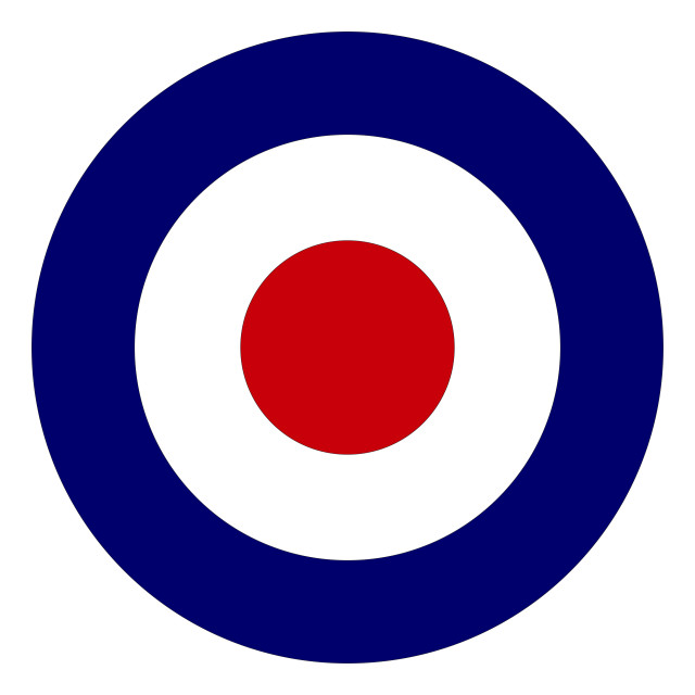 """""""Red White And Blue Roundel"""" stock image"""