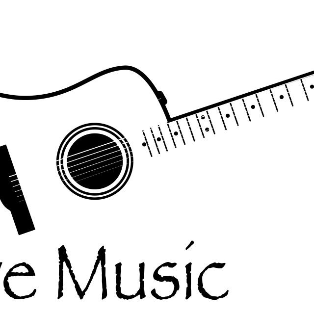 """""""Live Music Acoustic Guitar"""" stock image"""