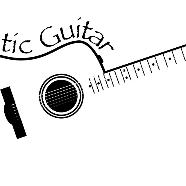 """""""Acoustic Guitar Copy Space"""" stock image"""