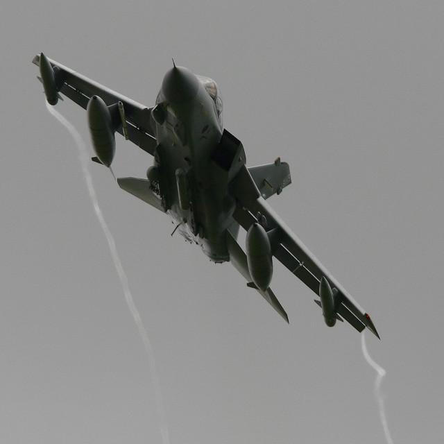 """RAF Panavia Tornado GR4 fast and low at Belfast Aldergrove ii"" stock image"