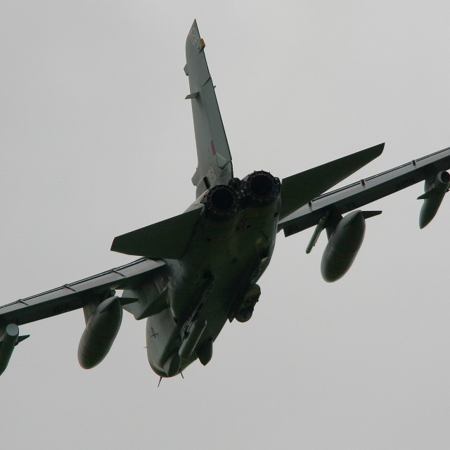 """RAF Panavia Tornado GR4 fast and low at Belfast Aldergrove iii"" stock image"