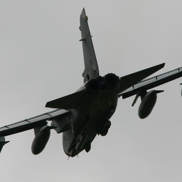 """""""RAF Panavia Tornado GR4 ZA560 at Belfast Aldergrove"""" stock image"""