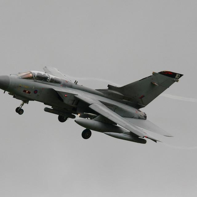 """""""617 Sqn RAF Panavia Tornado GR4 ZD849 at Aldergrove"""" stock image"""