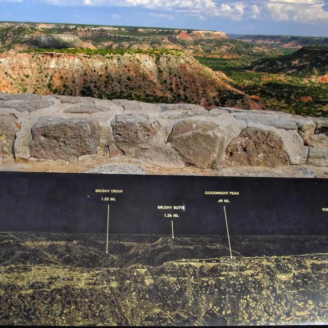 """""""Palo Duro Canyon & Landmarks"""" stock image"""
