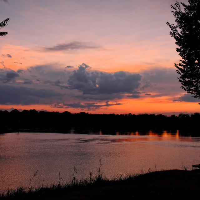 """Arkansas River Sunset"" stock image"
