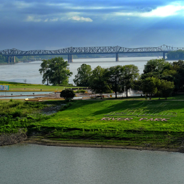 """Storms over Mud Island"" stock image"