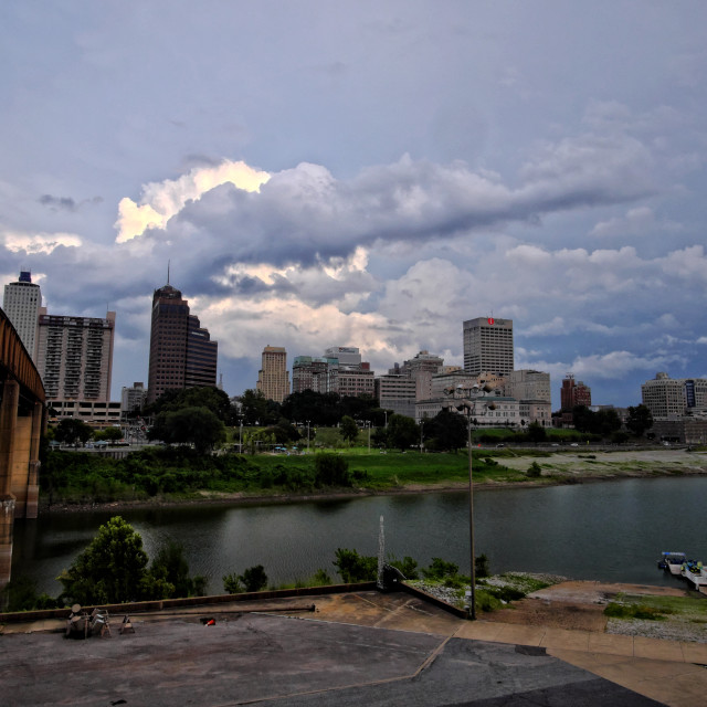 """Storm Clouds Over Memphis"" stock image"