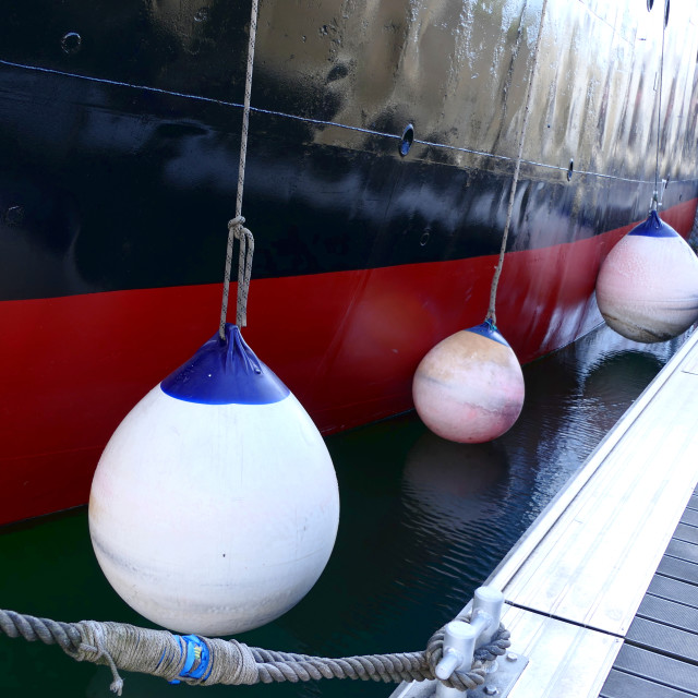 """Ships Fenders"" stock image"