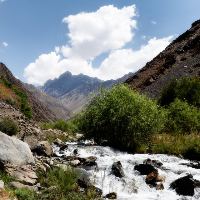 """Bartang Valley, Tajikistan"" stock image"