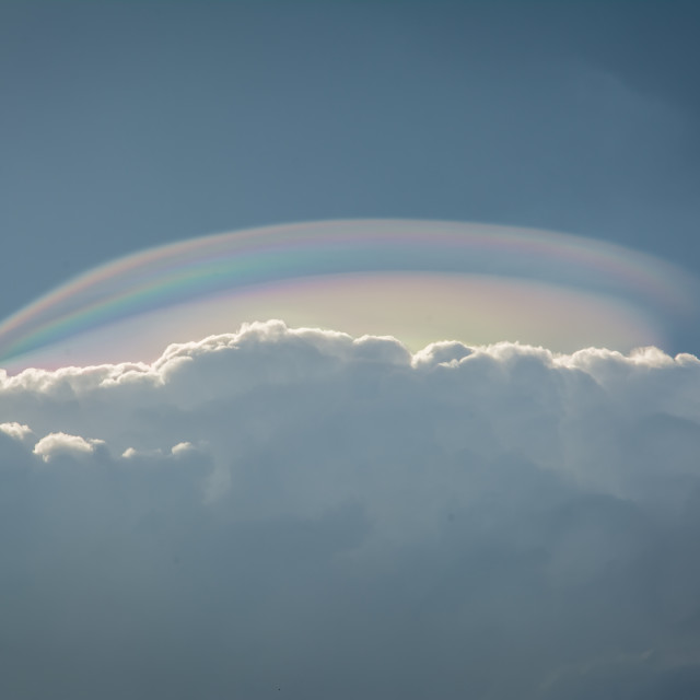 """The cloud iridescence or irisation"" stock image"