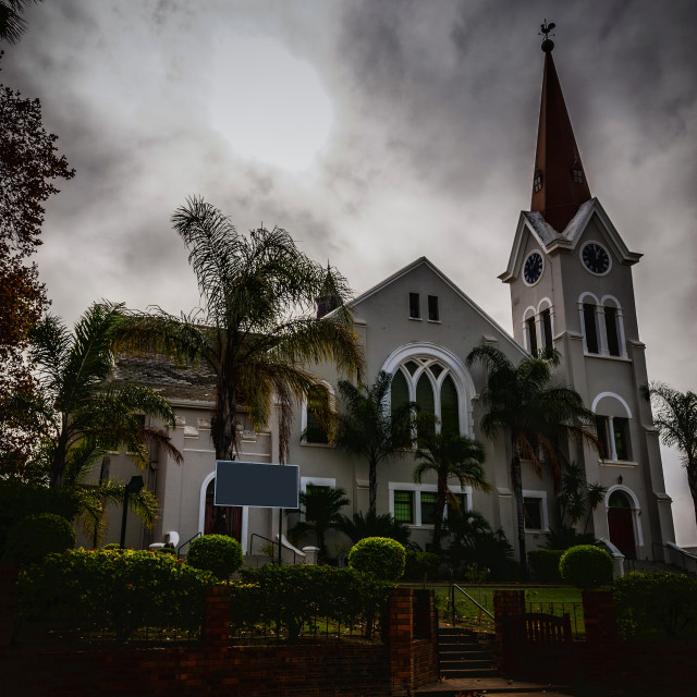 """""""Church - Riebeeck Kasteel, South Africa"""" stock image"""