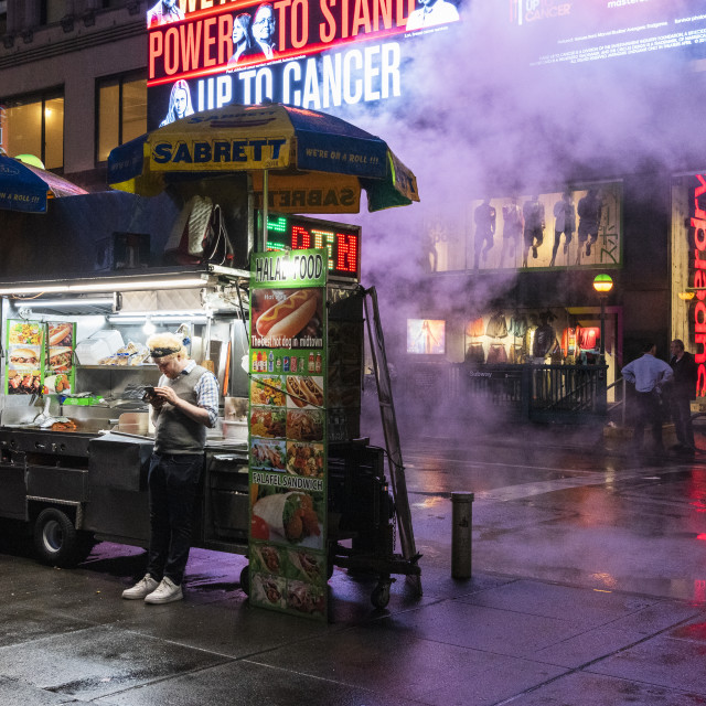 """""""Hot Dogs in NYC"""" stock image"""