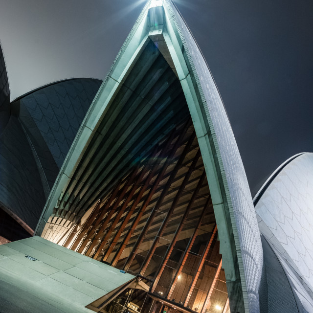 """Sydney Opera House at Night 3"" stock image"