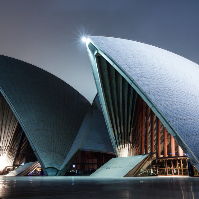 """Sydney Opera House at Night 2"" stock image"