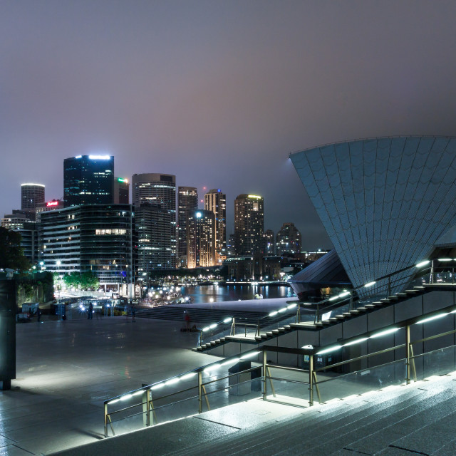 """Sydney Opera House at Night 4"" stock image"