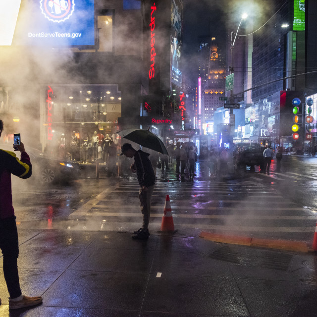 """""""Steam Vents in NYC"""" stock image"""
