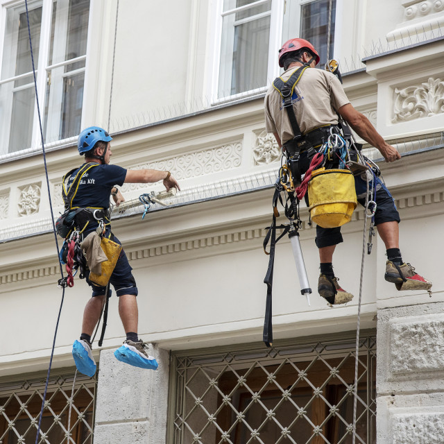 """Building Maintenance Budapest"" stock image"