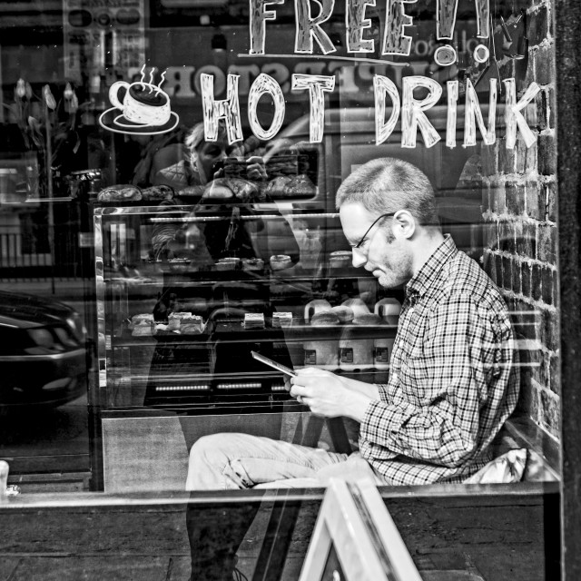 """Free Hot Drink"" stock image"