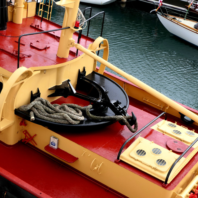 """Tugboat Pulling Hook"" stock image"