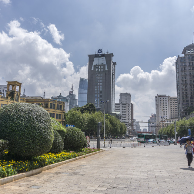 """""""City centre view in Kunming, Yunnan province, Southwest China."""" stock image"""
