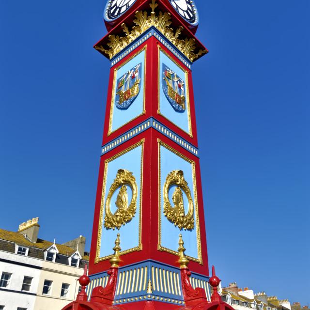 """Jubilee Clock Tower, Weymouth, Dorset, UK"" stock image"