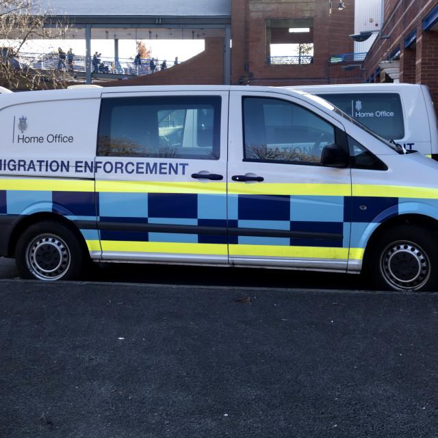"""Home Office Immigration Enforcement Van"" stock image"