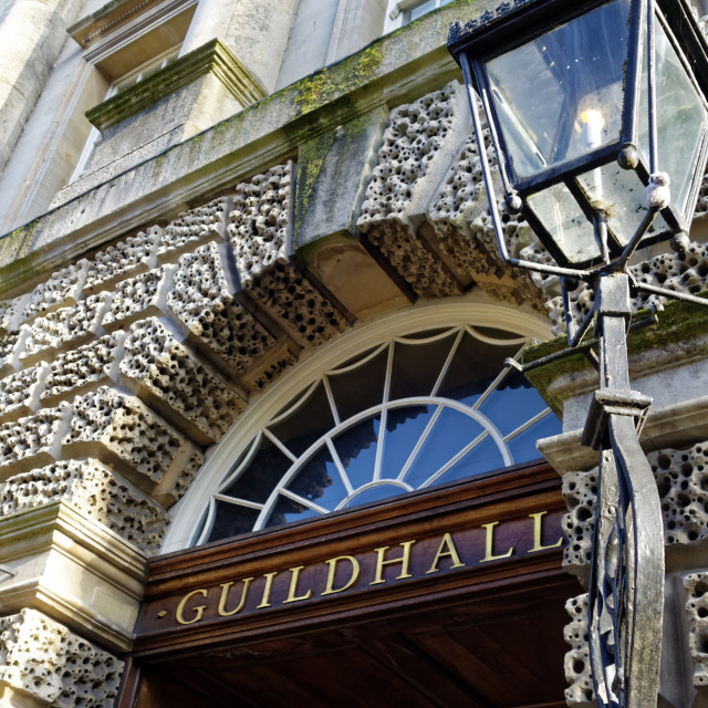"""""""The Guildhall Building in Bath"""" stock image"""