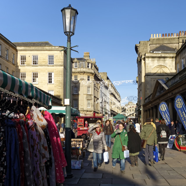 """Stall Street Bath Christmas Market"" stock image"