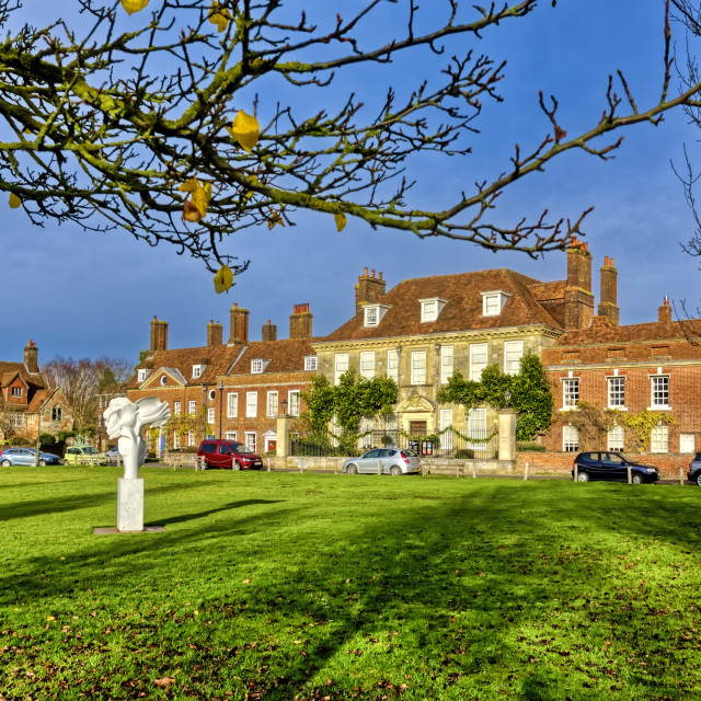 """Choristers Square, Salisbury, Wiltshire, UK"" stock image"