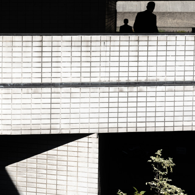 """Barbican Shadows 1"" stock image"