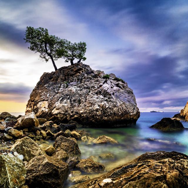 """Eze Sur Mer Sunrise"" stock image"