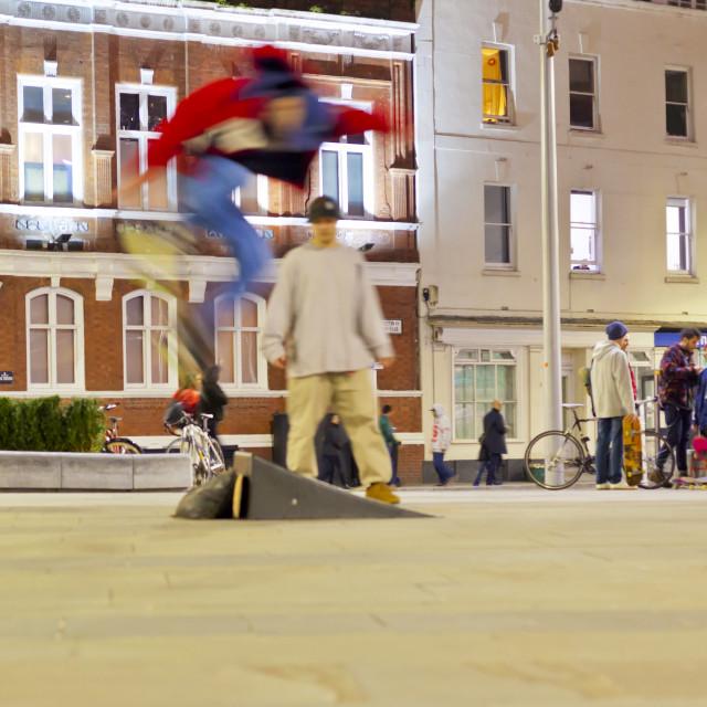 """""""Skate boarders, Bristol"""" stock image"""