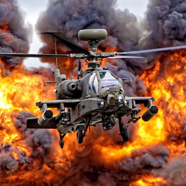 """AgustaWestland Apache AH1"" stock image"