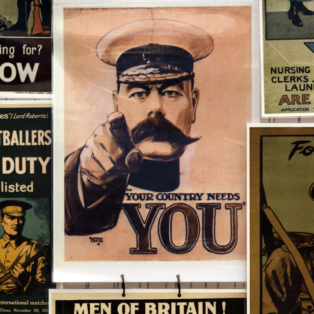 """""""A display of World War 1 Posters"""" stock image"""
