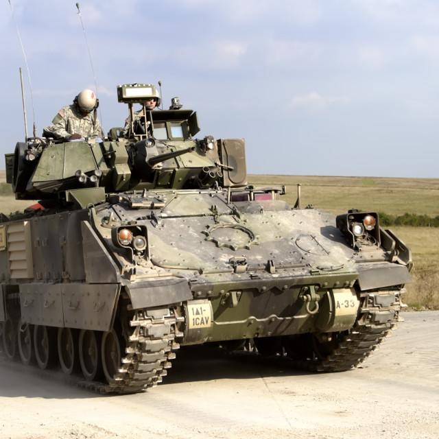 """A United States Army Bradley Fighting Vehicle (BFV)"" stock image"