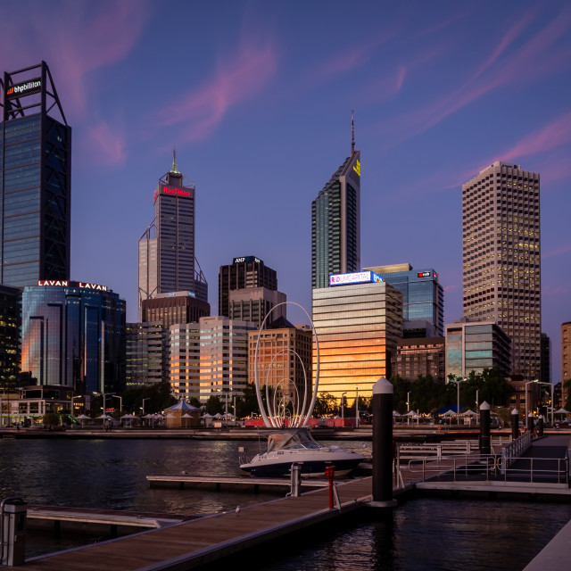 """Elizabeth Quay - Perth"" stock image"