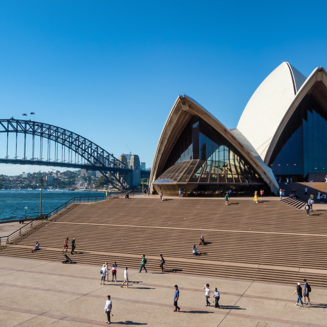 """Sydney Opera House and the Harbour Bridge"" stock image"