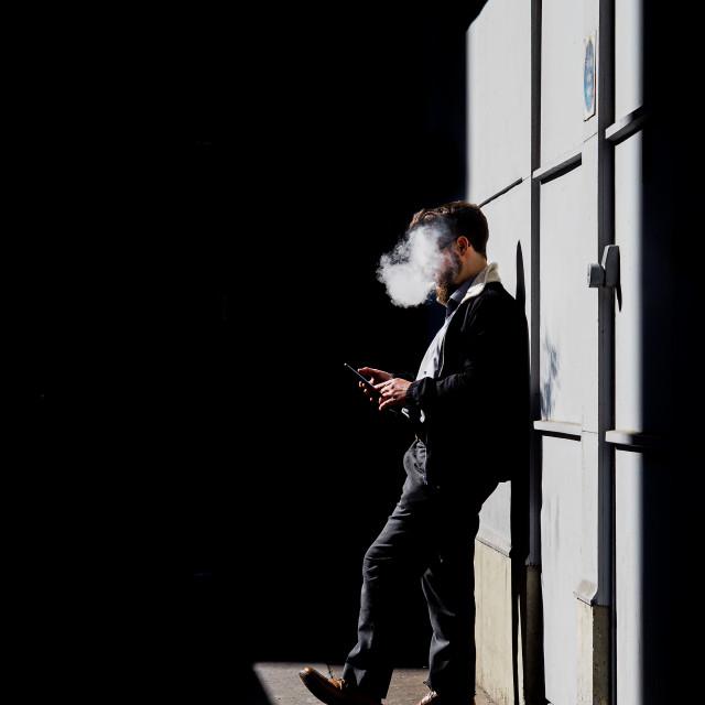 """""""Smoking man"""" stock image"""