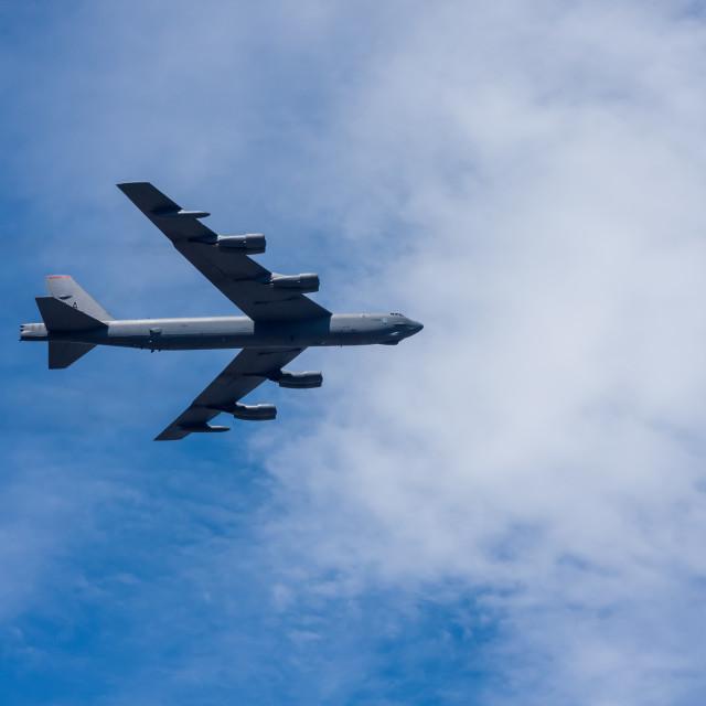 """B-52 Stratofortress Bomber Aircraft"" stock image"