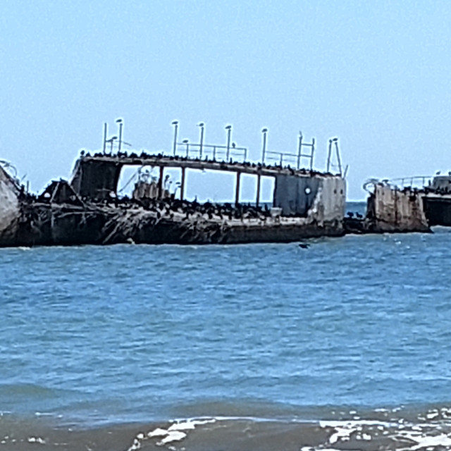 """""""WWII Cement Ship"""" stock image"""