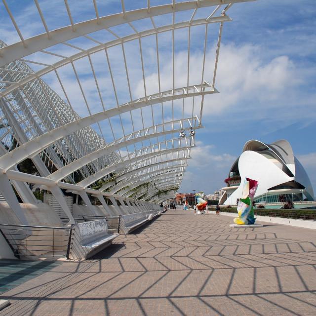 """Umbracle and Palau de les Arts, Valencia"" stock image"