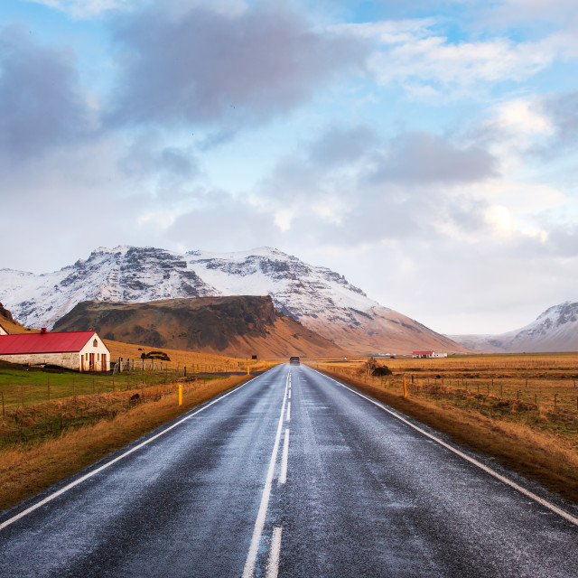 """Scenic road in Iceland"" stock image"
