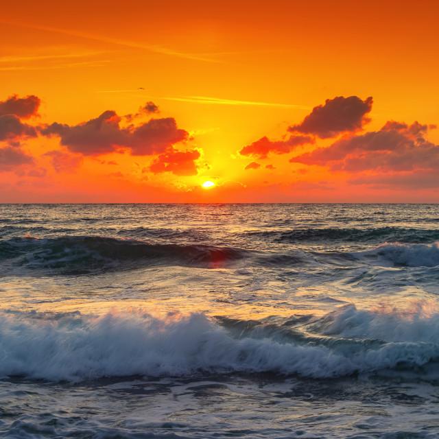 """Beautiful over the tropical sea"" stock image"