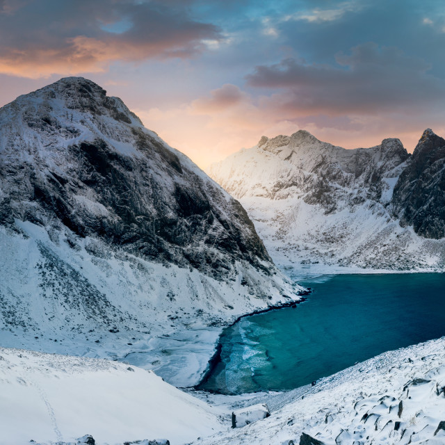 """Lofoten Winter Panorama"" stock image"